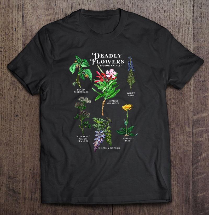 Poisonous Flowers Fleur Fatale Plant Halloween Shirt