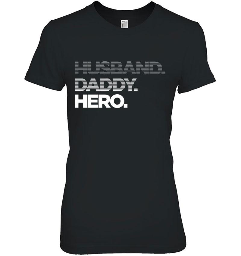 Husband Daddy Hero Fade Hoodie