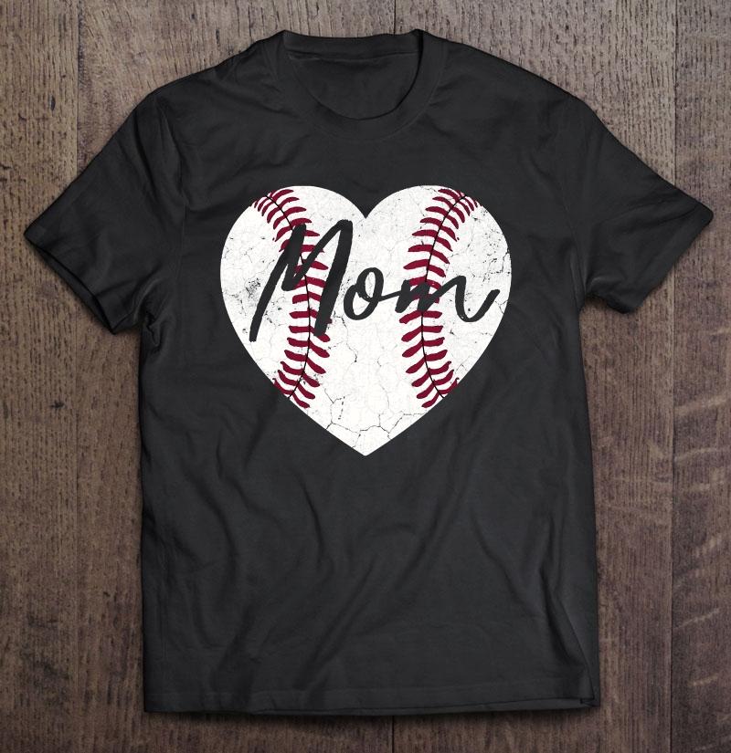 Baseball Softball Heart Mom Cute Mother's Day Gift Pullover Shirt
