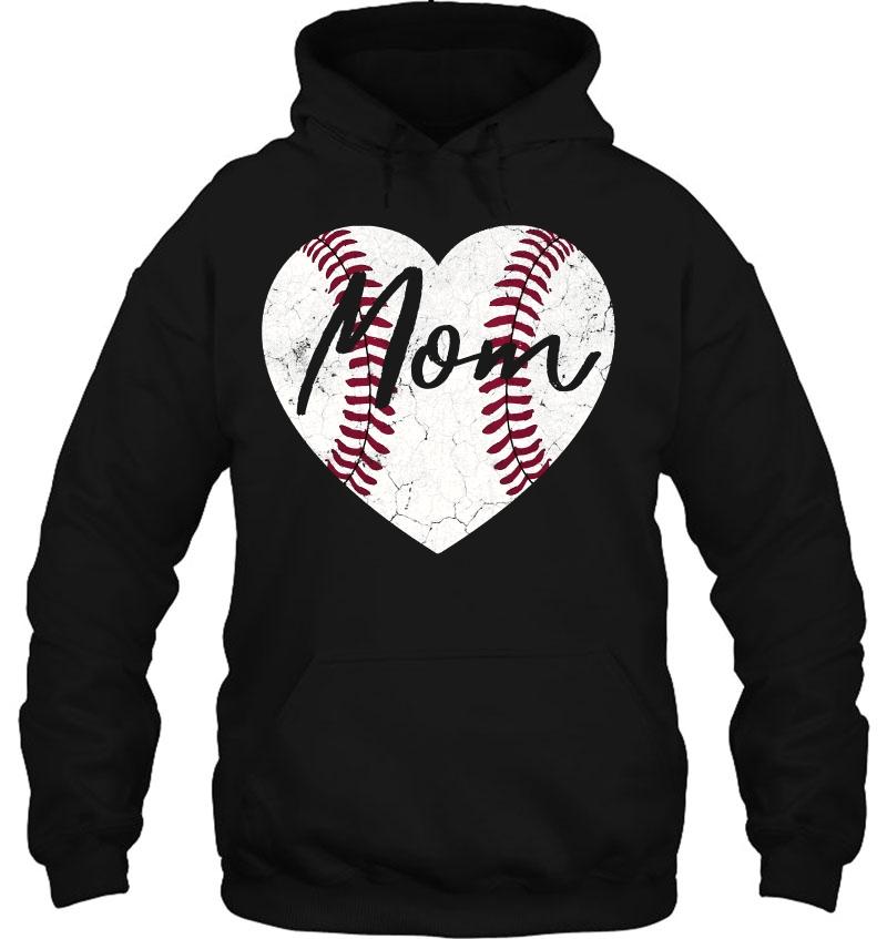 Baseball Softball Heart Mom Cute Mother's Day Gift Pullover Mugs