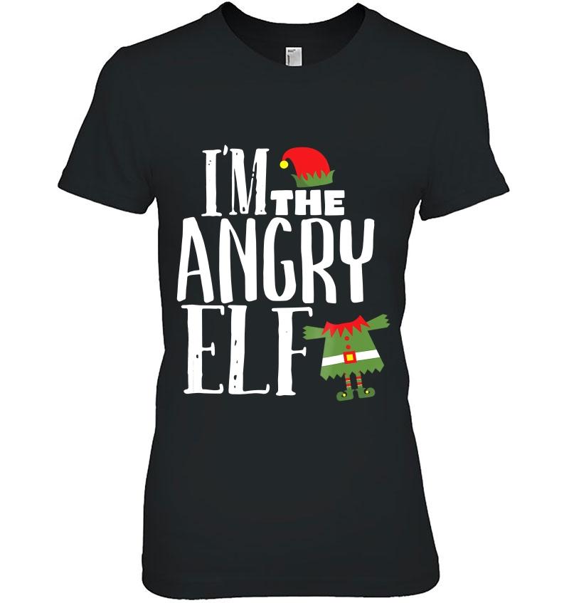I'm The Angry Elf Matching Family Group Christmas Hoodie