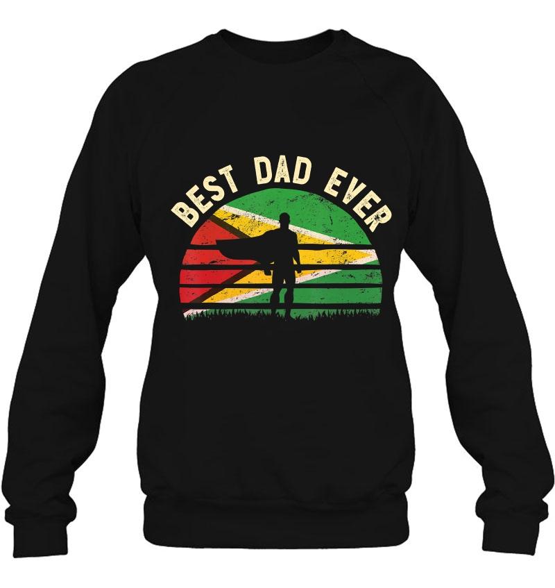 Mens Best Dad Ever Tshirt Guyana Hero Vintage Flag Retro Art Mugs