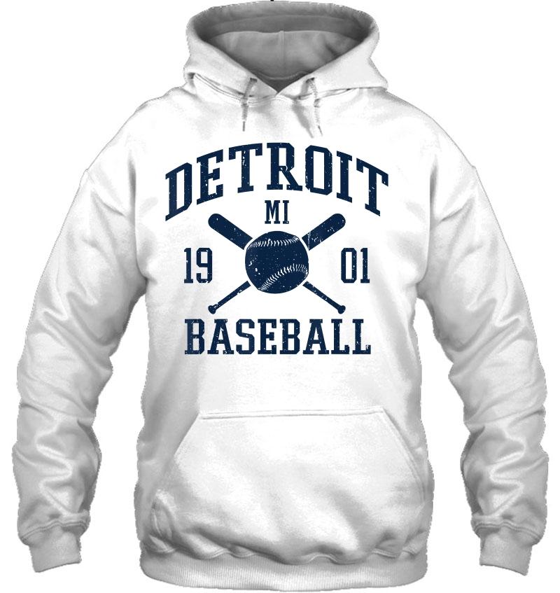 Vintage Michigan Bengal Tiger Retro Sweatshirt Detroit Baseball D