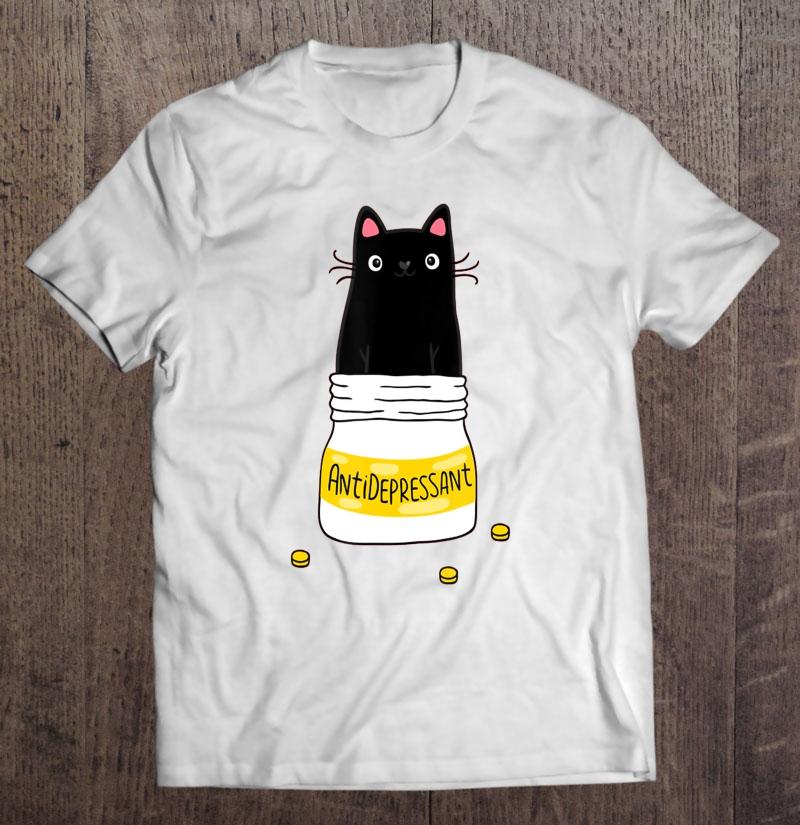 lepni.me Women/'s T-shirt Positive Cat Antidepressant Funny Kitten Lover Gift