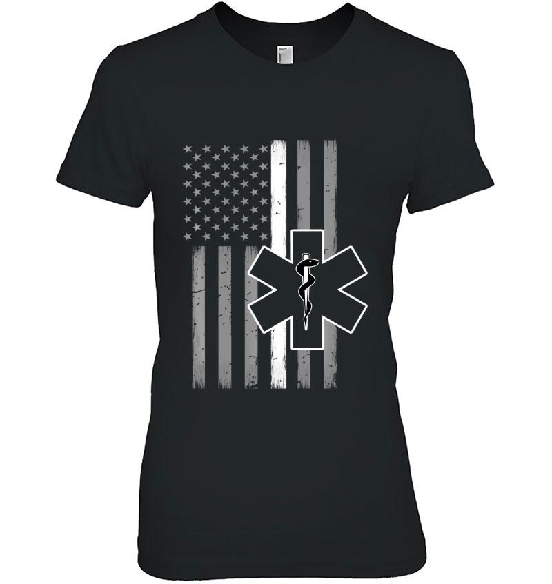 Emt Thin White Line Flag Medical Hoodie