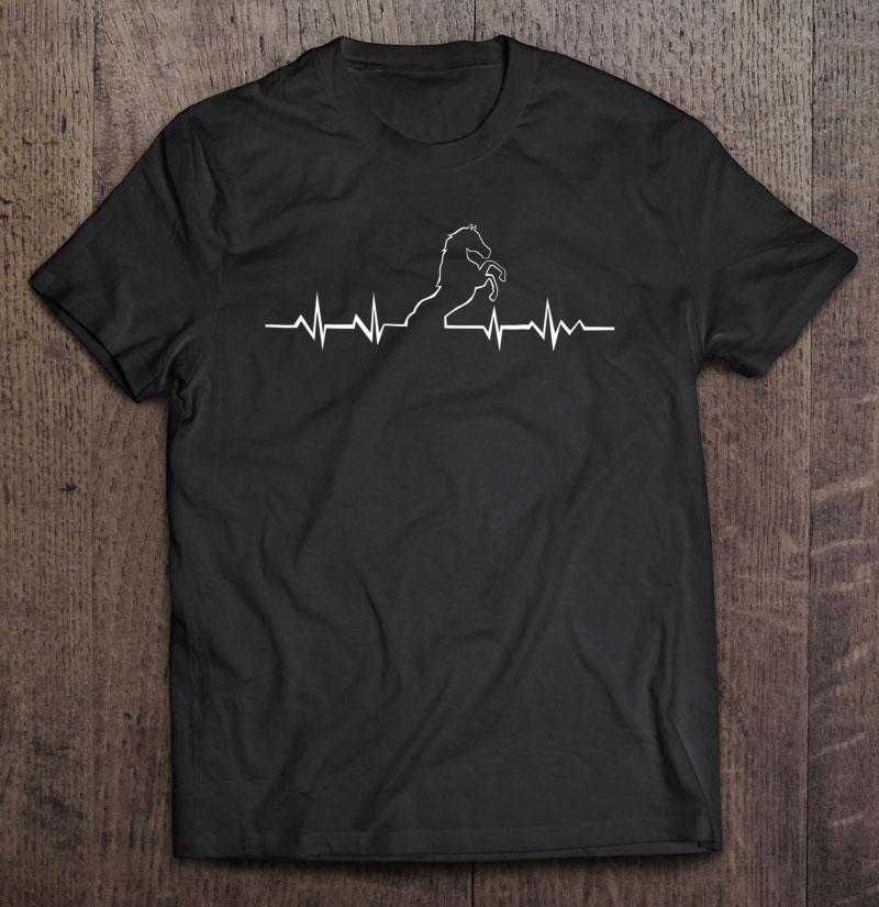 Horse Heartbeat Shirt Horse lover Gift Shirt Horse Head Horse Lover/'s Gift Heartbeat Unisex Sweatshirt