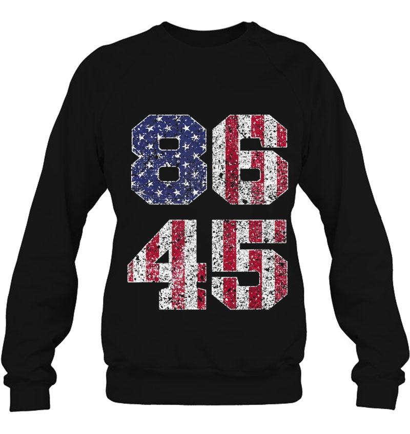 8645 Vintage Retro Style 86 45 Anti-Trump Tee American Flag Mugs