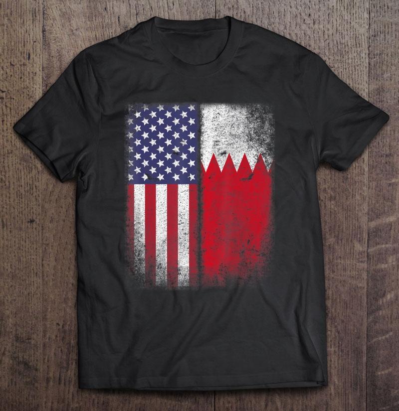 Bahraini American Flag Bahrain Usa America Shirt