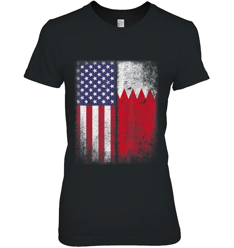 Bahraini American Flag Bahrain Usa America Hoodie