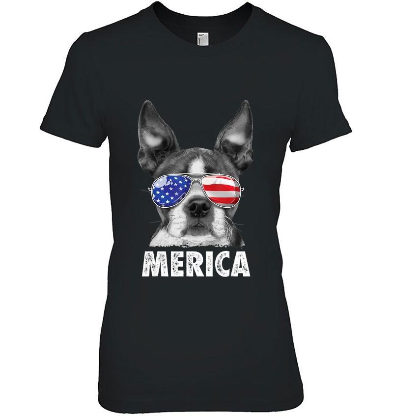Boston Terrier 4Th Of July Merica Men Women Usa Flag Hoodie