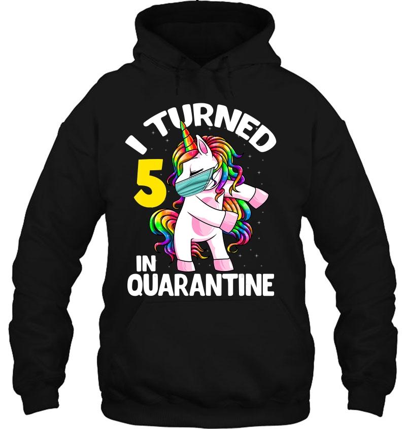 I Turned 5 In Quarantine Flossing Unicorn 5Th Birthday Gift Mugs
