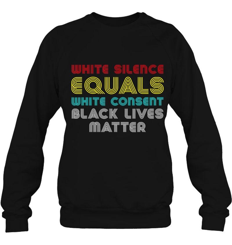 White Silence Equals White Consent Black Lives Matter Retro Mugs