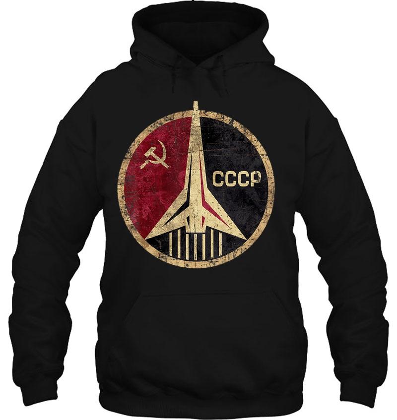 CCCP Original Russia Space Program Gift Tshirt Felpa