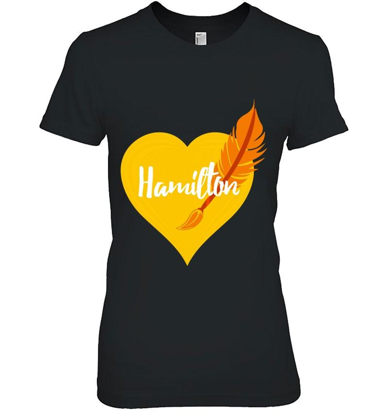 Hamilton Love Heart Pen Tee Hoodie