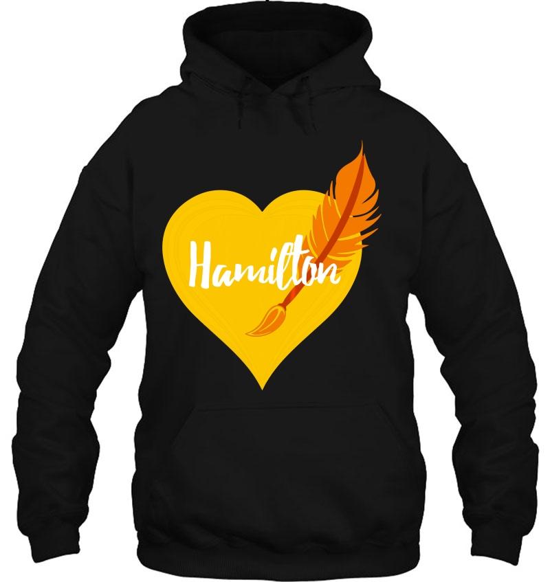 Hamilton Love Heart Pen Tee Mugs