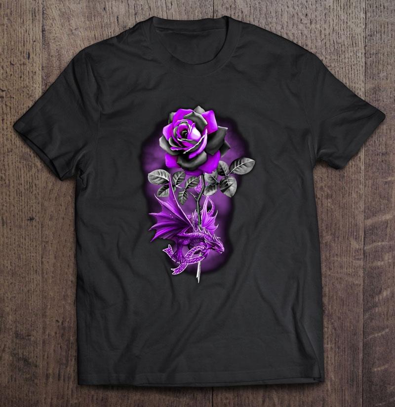 Purple Rose Dragon Shirt