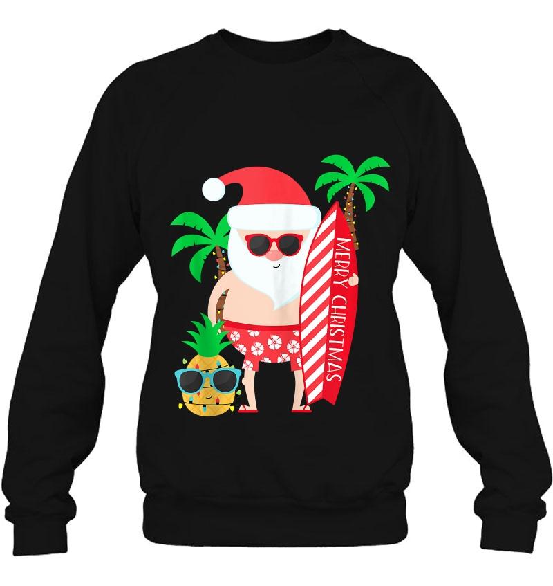 Gift For Men Women Couples Santa Surfing Christmas In July Mugs