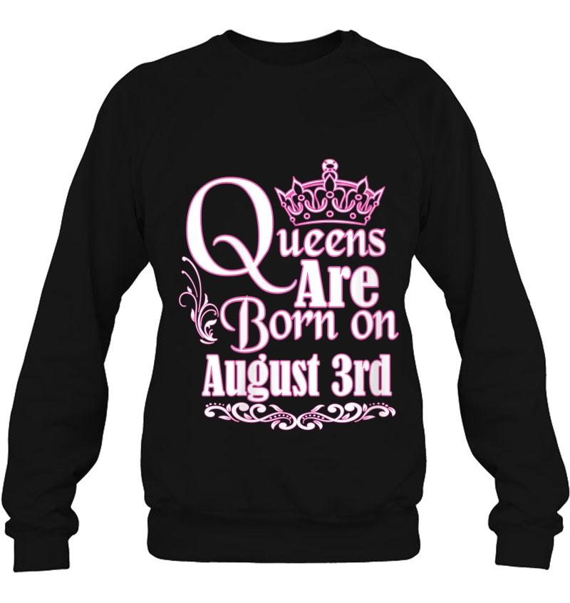 Womens Queens Are Born On August 3Rd Virgo Leo Womens Birthday V-Neck Mugs